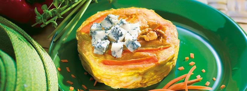 Ricetta tortino di carote con gorgonzola
