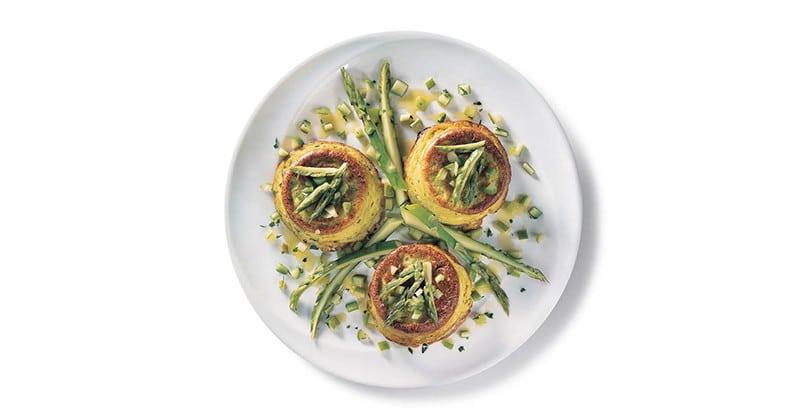 Piccoli flan agli asparagi