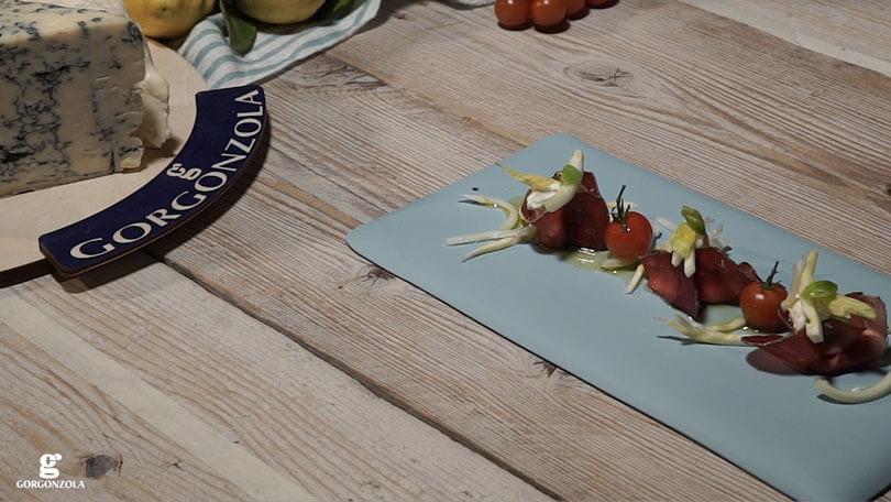 Fagottini di bresaola e gorgonzola piccante