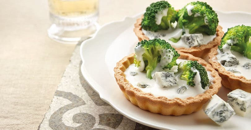 Tartellette-broccoli-Gorgonzola